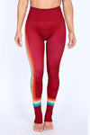 Muted Rainbow Maroon NFS Legging