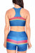Retro Sunset Stripes Teal Aurora Bra