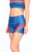 Retro Sunset Stripes Teal Yoga Shorts