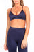 Navy/Burgundy Track Sports Bra