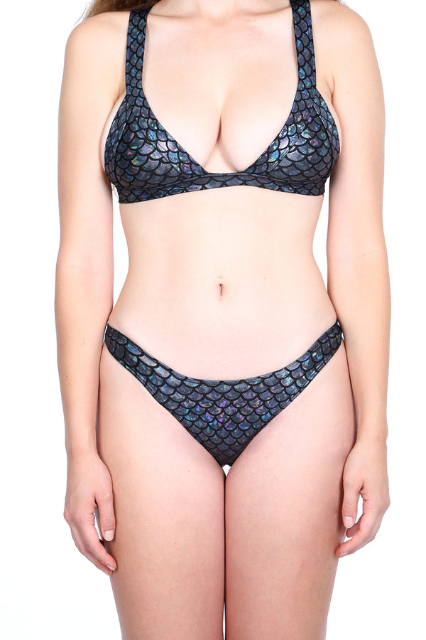 Holographic Mermaid Bikini Bottom