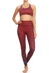 Snake Eyes Burgundy NFS Legging