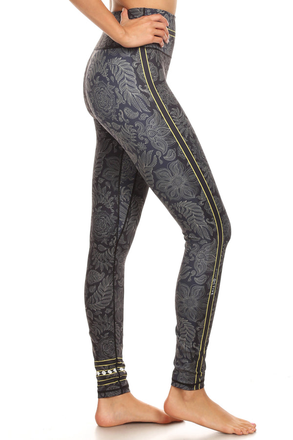 Gold Dust Floral NFS Legging