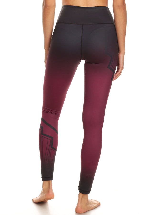 Art Deco Burgundy NFS Legging