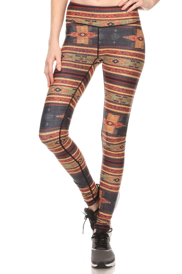 Fall Mexican Blanket Dream Leggings - POPRAGEOUS  - 1