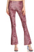 Crushed Velvet Bell Bottoms - Mauve