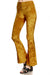 Crushed Velvet Bell Bottoms - Marigold