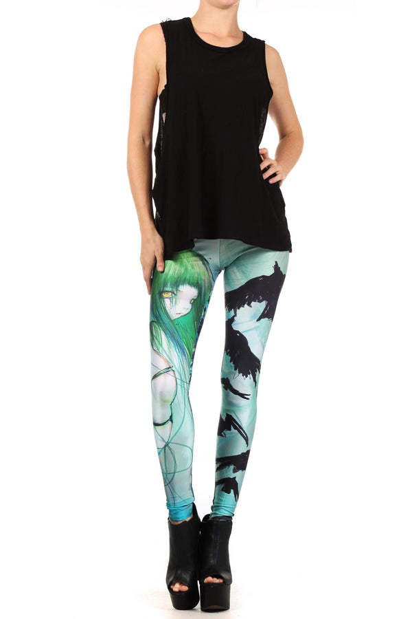 CAMILLA d'ERRICO: Disassembled Tears Leggings - POPRAGEOUS  - 1