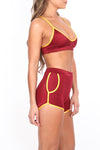 Cardinal/Gold Track Booty Short