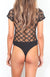 Lattice Sheer Bodysuit-Black