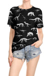 Dinosaur Skeleton Relaxed Tee - POPRAGEOUS  - 1