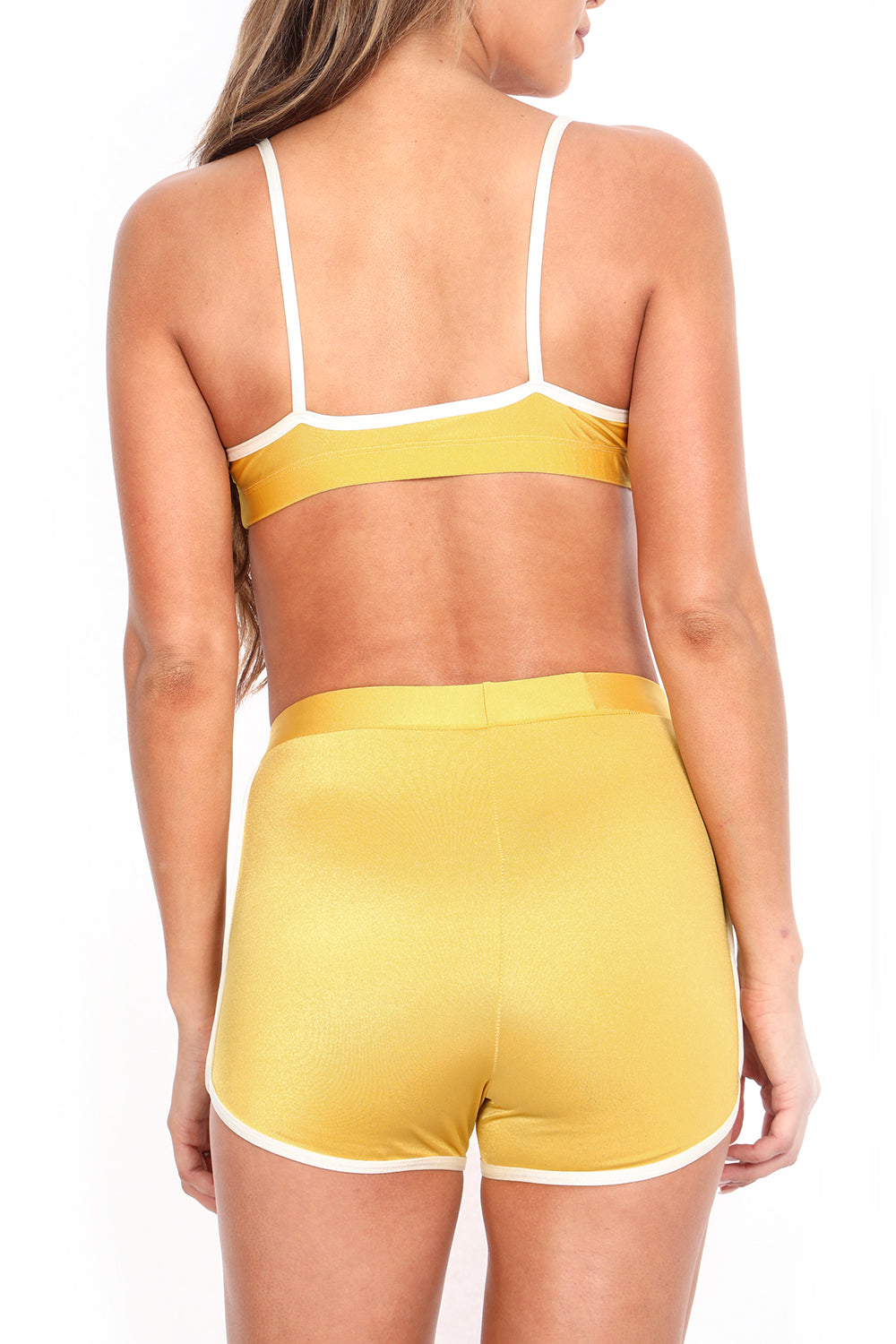Mustard Yellow Track Sports Bra - POPRAGEOUS d29c748b0
