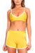 Mustard/Yellow Track Sports Bra