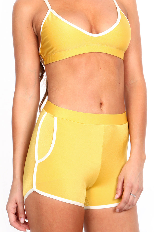 Mustard/Yellow Track Booty Short