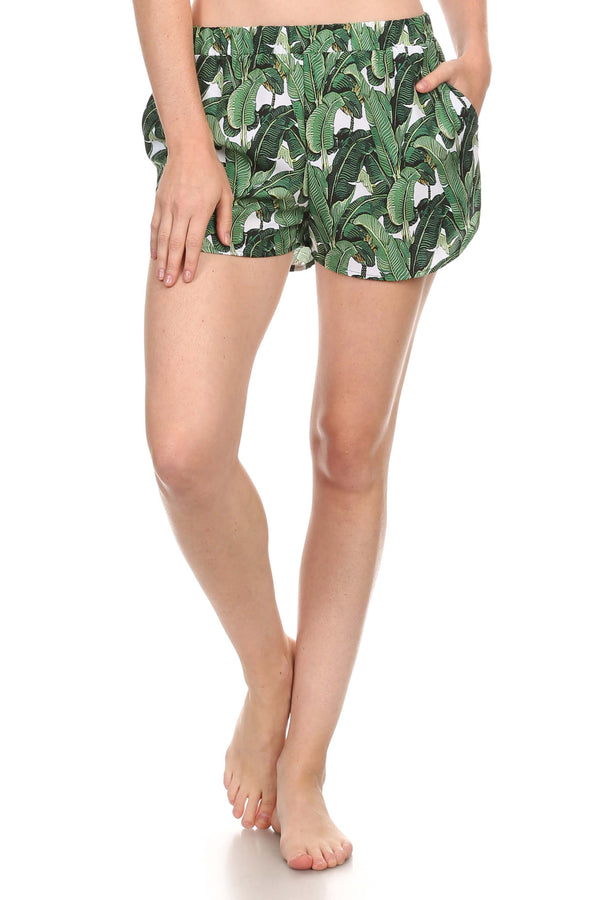 Banana Leaf Breezy Shorts - POPRAGEOUS  - 1