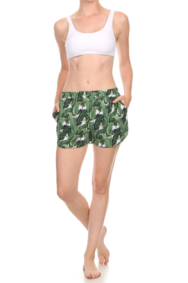 Banana Leaf Breezy Shorts - POPRAGEOUS  - 3