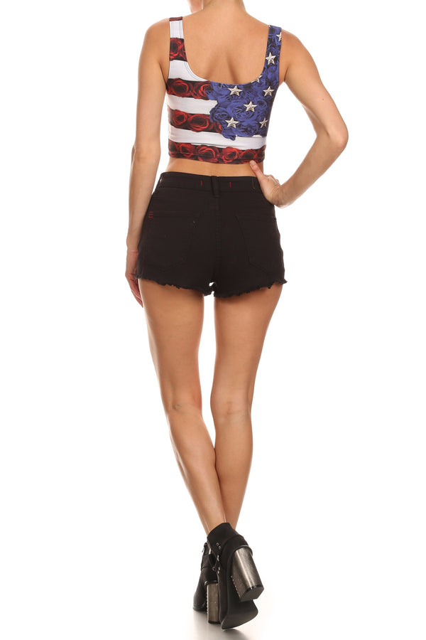 American Beauty Crop Top - POPRAGEOUS  - 4
