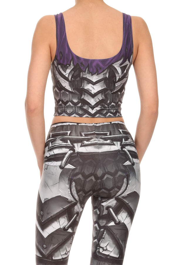 Comic Armor Crop Top - POPRAGEOUS  - 3