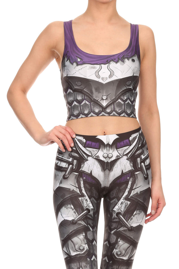 Comic Armor Crop Top - POPRAGEOUS  - 1