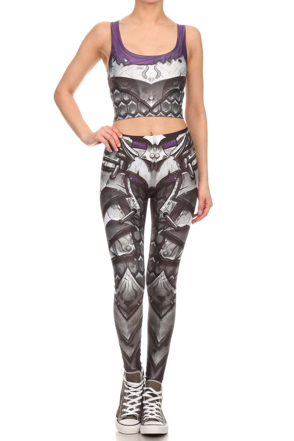 Comic Armor Crop Top - POPRAGEOUS  - 4