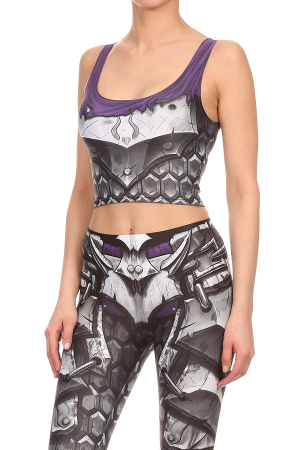 Comic Armor Crop Top - POPRAGEOUS  - 2