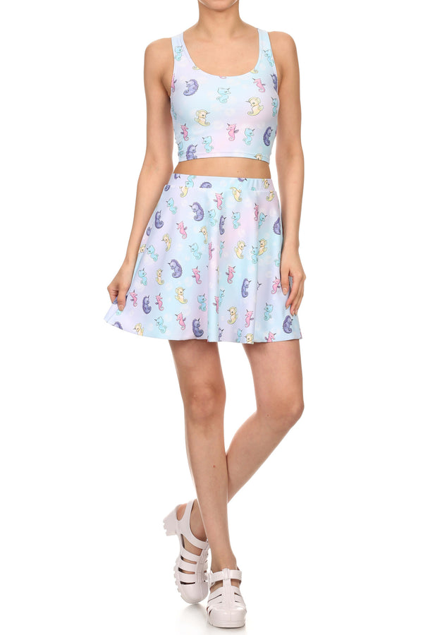 Mystic Sea Unicorn Skater Skirt - POPRAGEOUS  - 4