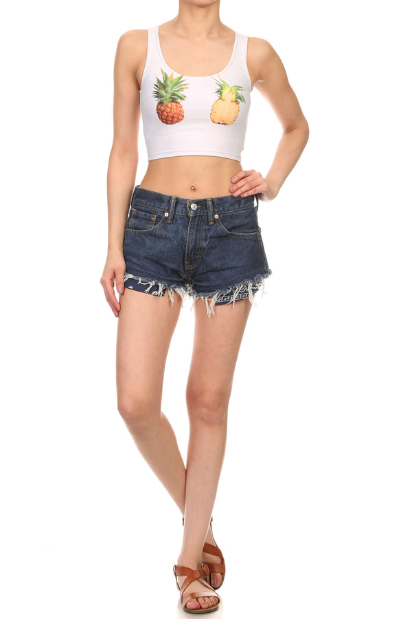 Pineapple Crop Top - POPRAGEOUS  - 4