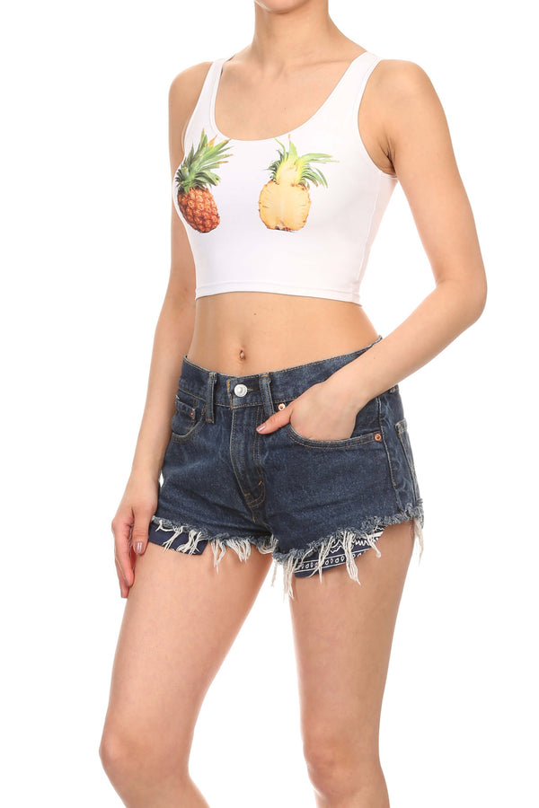 Pineapple Crop Top - POPRAGEOUS  - 2
