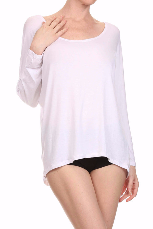 POPSOFT Dolman Top - White - POPRAGEOUS  - 1