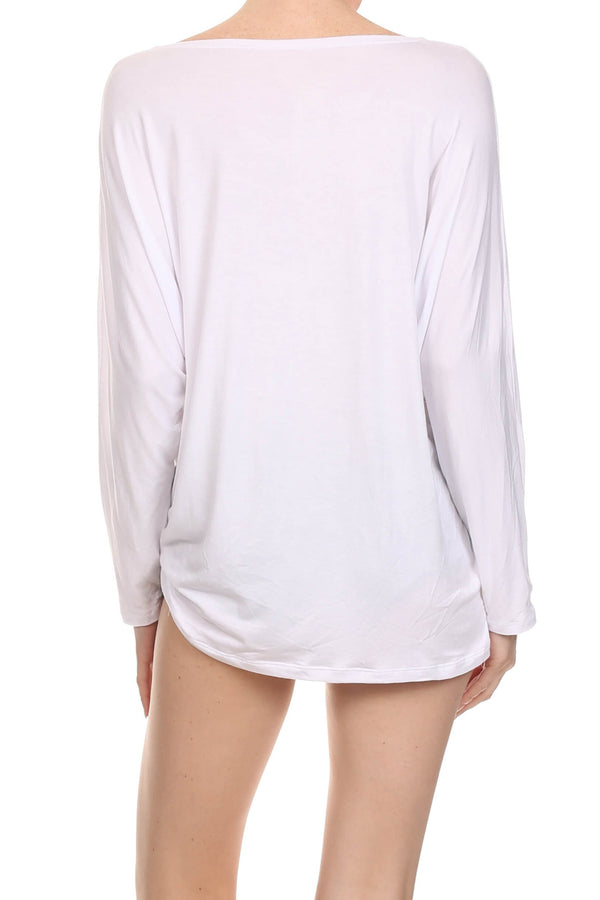 POPSOFT Dolman Top - White - POPRAGEOUS  - 3