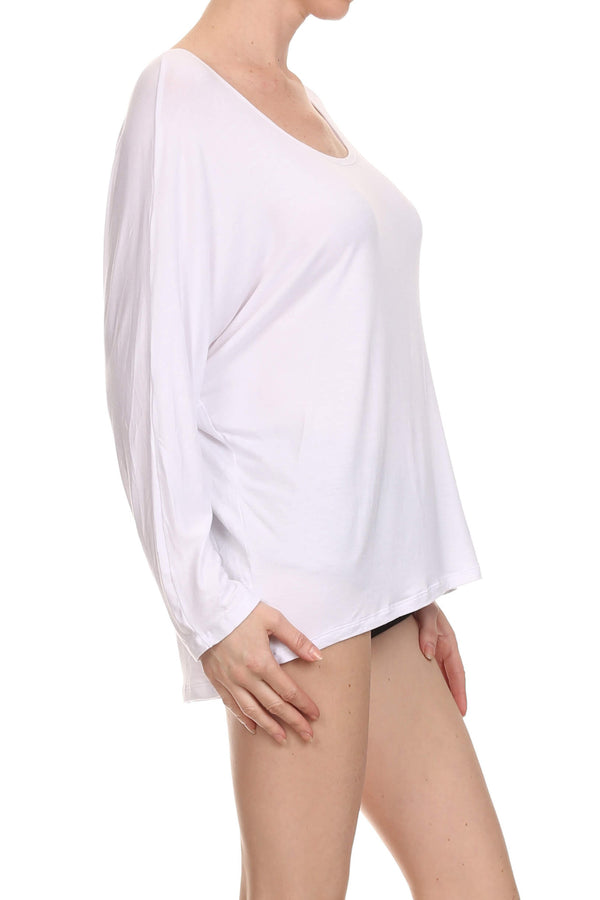POPSOFT Dolman Top - White - POPRAGEOUS  - 2