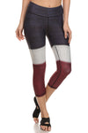 Color Block Dream Capris - Burgundy - POPRAGEOUS  - 1