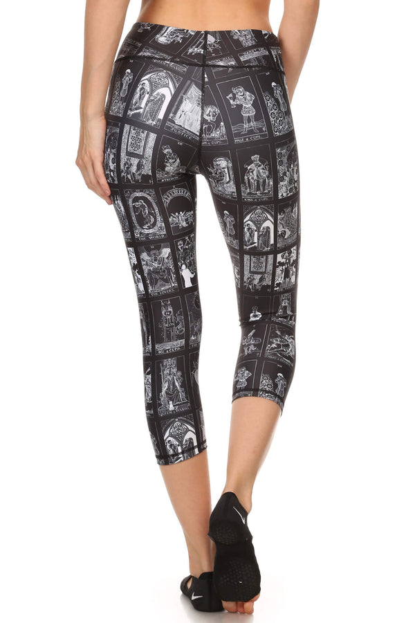 Dark Tarot Card Dream Capris - POPRAGEOUS  - 3