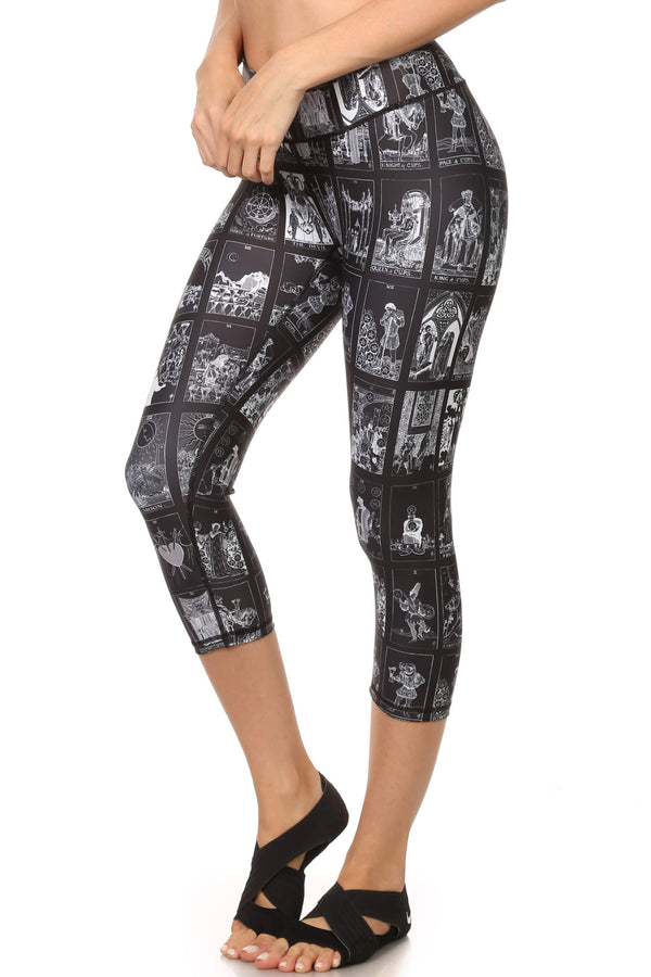 Dark Tarot Card Dream Capris - POPRAGEOUS  - 2