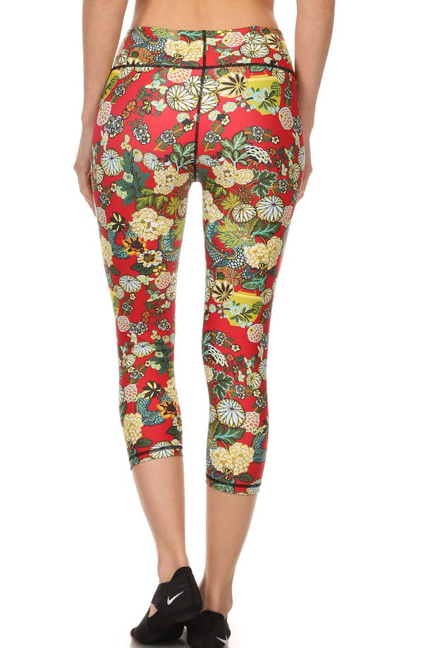 Hidden Dragon Dream Capris - Vermillion - POPRAGEOUS  - 3