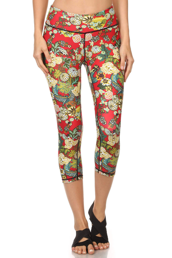 Hidden Dragon Dream Capris - Vermillion - POPRAGEOUS  - 1