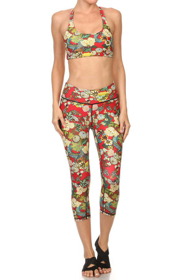 Hidden Dragon Dream Capris - Vermillion - POPRAGEOUS  - 4