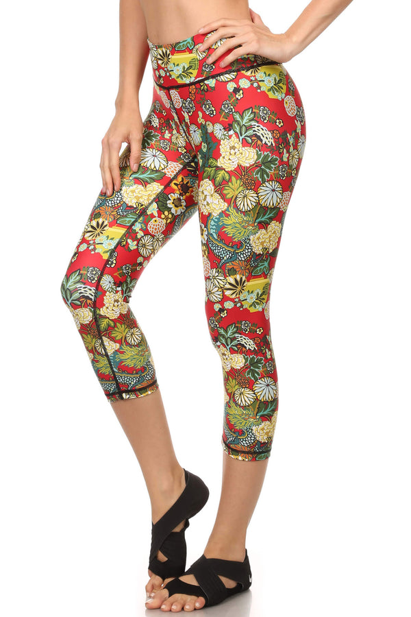 Hidden Dragon Dream Capris - Vermillion - POPRAGEOUS  - 2