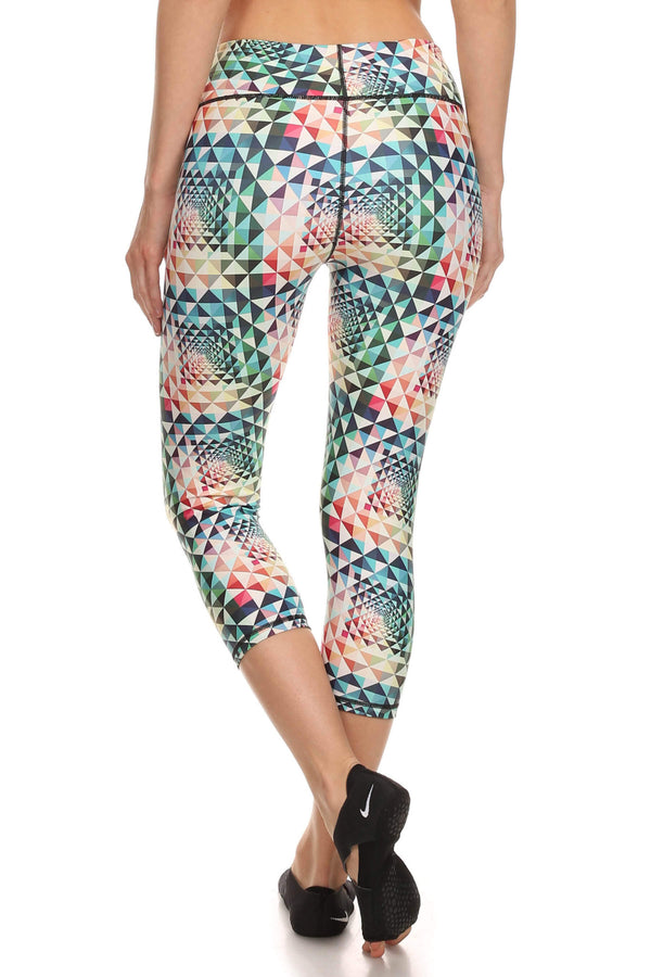 Geometric Rainbow Dream Capris - POPRAGEOUS  - 3