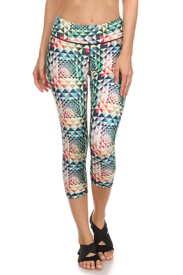 Geometric Rainbow Dream Capris - POPRAGEOUS  - 1