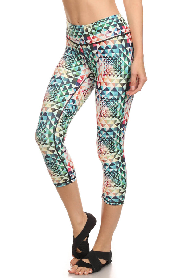 Geometric Rainbow Dream Capris - POPRAGEOUS  - 2