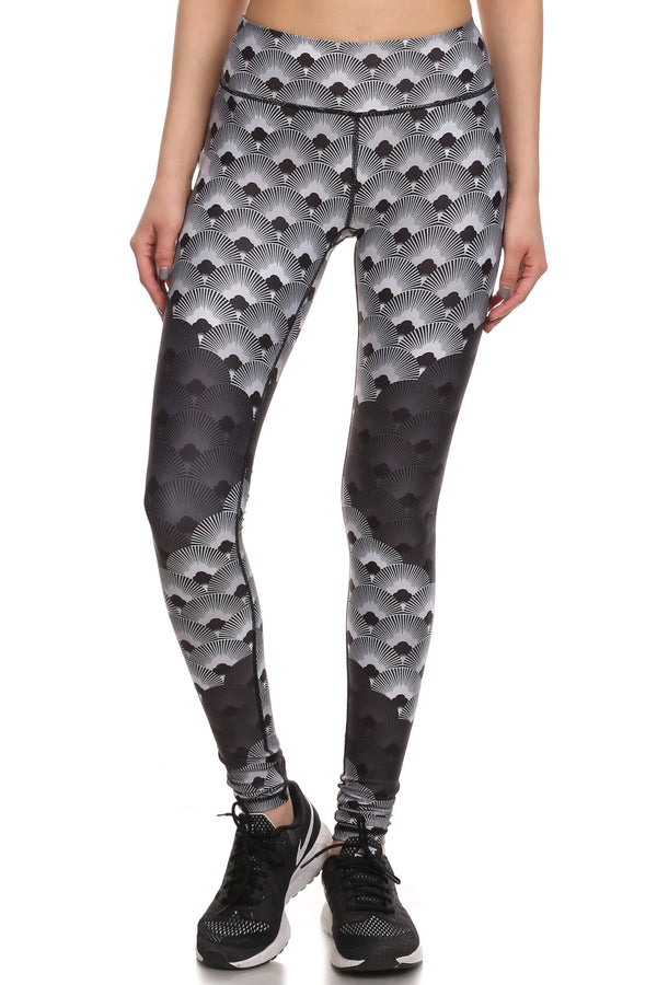 70's Fan Dream Leggings - Monochromatic - POPRAGEOUS  - 1