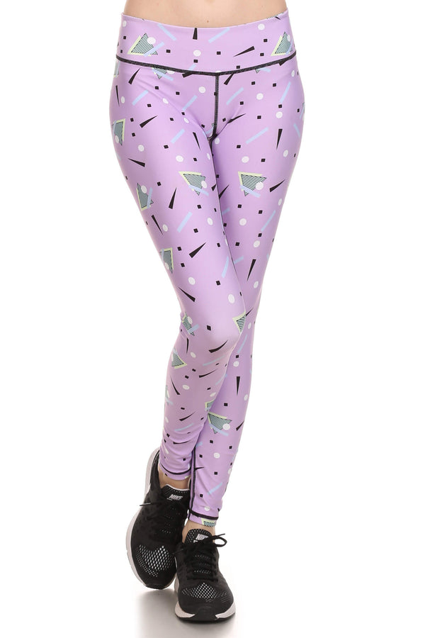 90's Lavender Dream Leggings - POPRAGEOUS  - 1