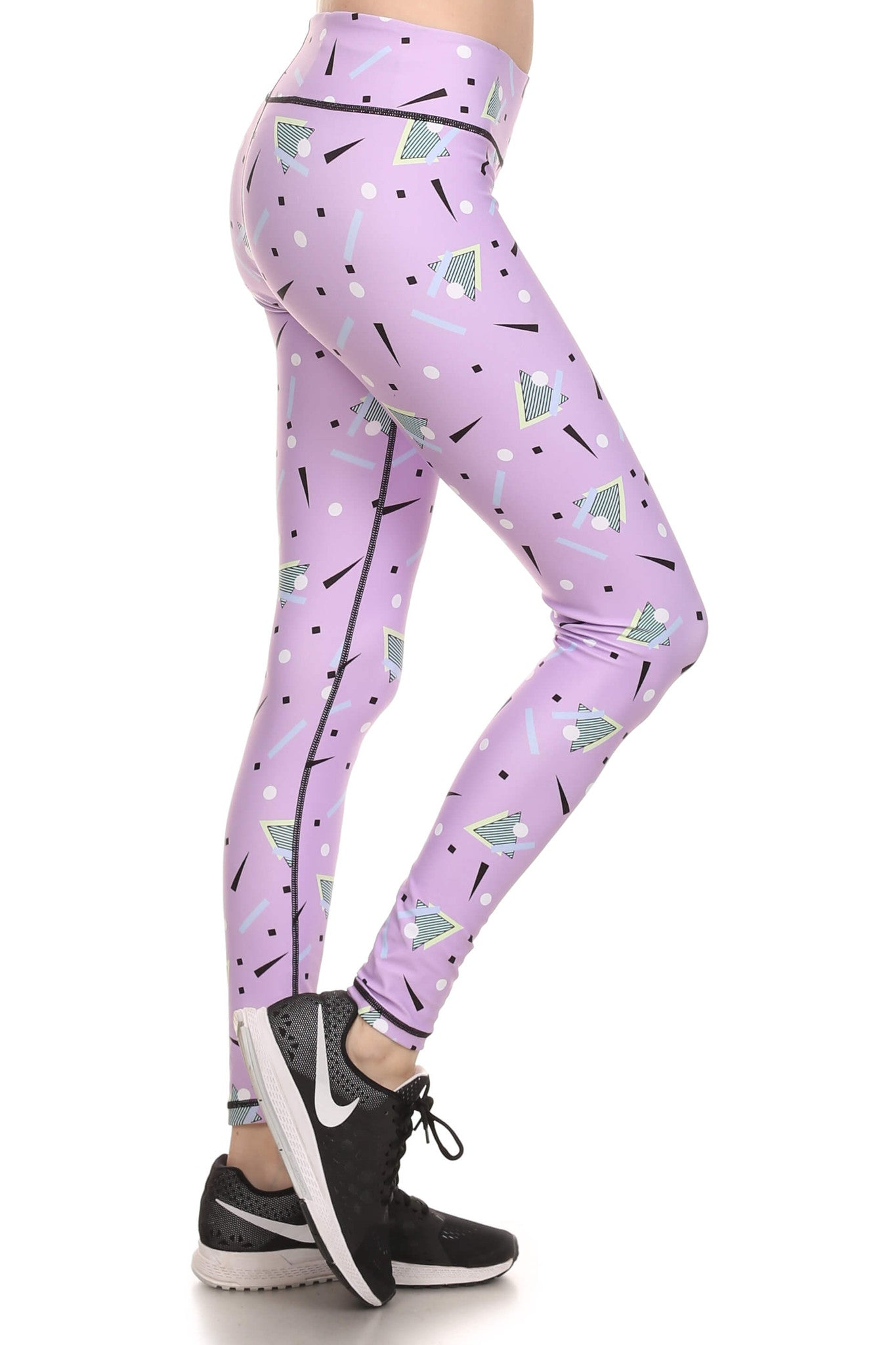 90's Lavender Dream Leggings - POPRAGEOUS  - 2
