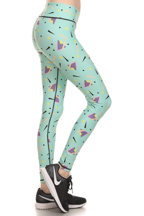 90's Mint Dream Leggings - POPRAGEOUS  - 2
