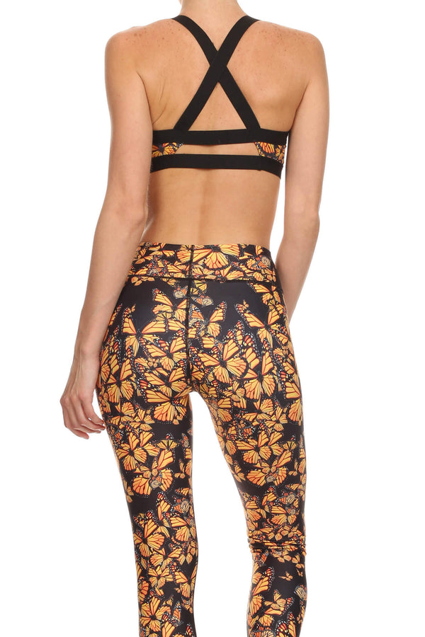 Attack of the Monarchs Jasmine Sports Bralette - POPRAGEOUS  - 3