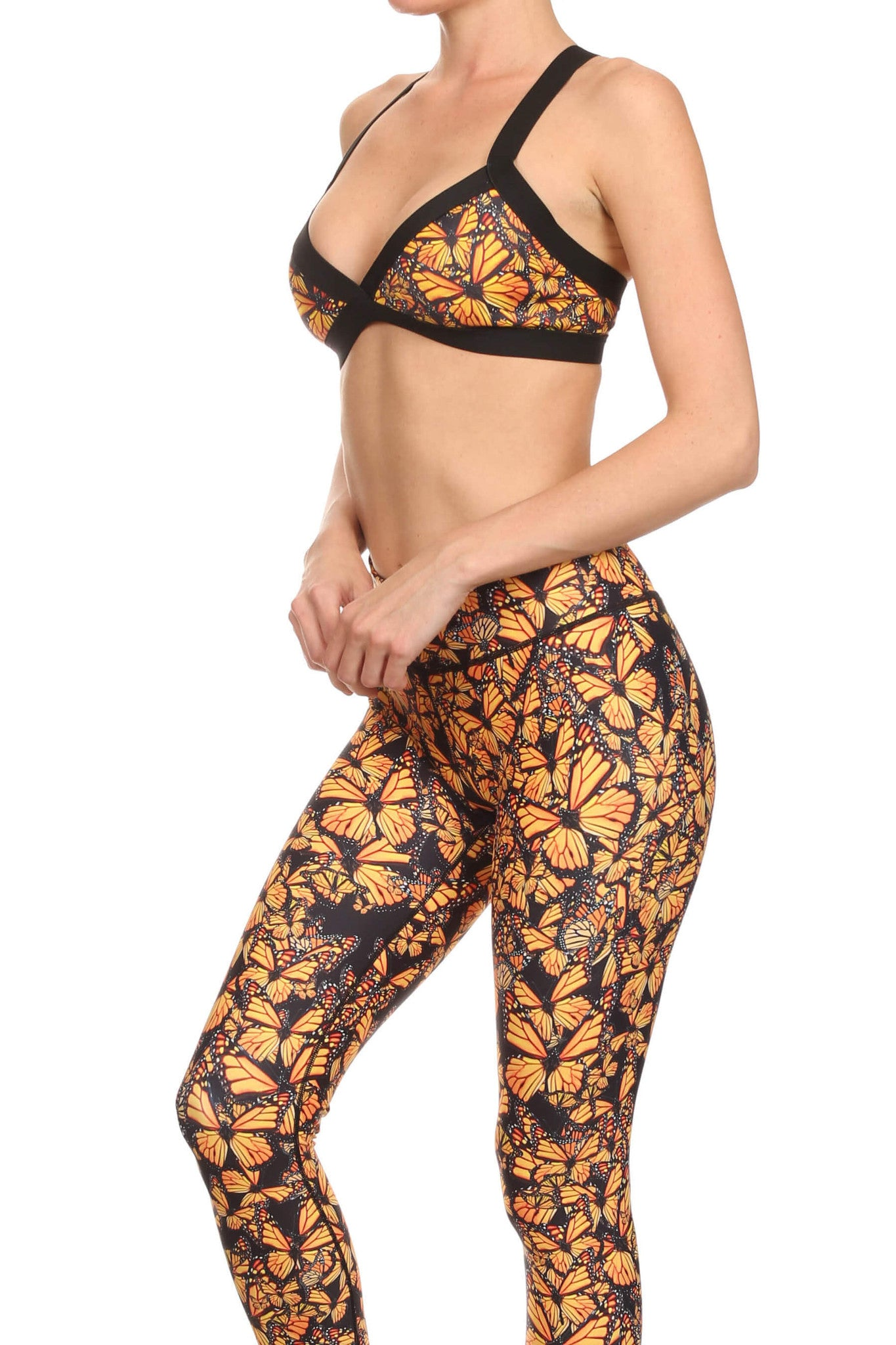 Attack of the Monarchs Jasmine Sports Bralette - POPRAGEOUS  - 2
