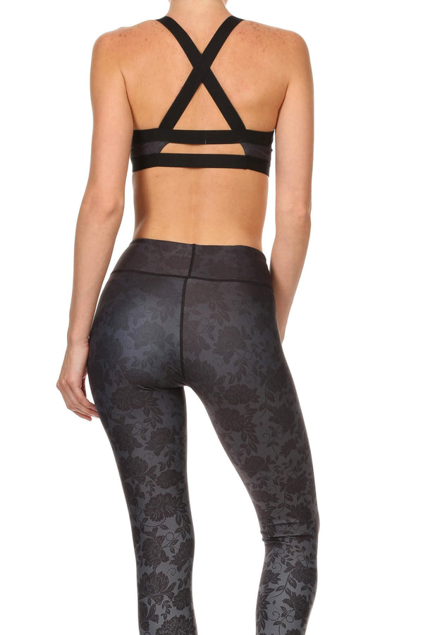 Black Ombre Lace Jasmine Sports Bralette - POPRAGEOUS  - 3