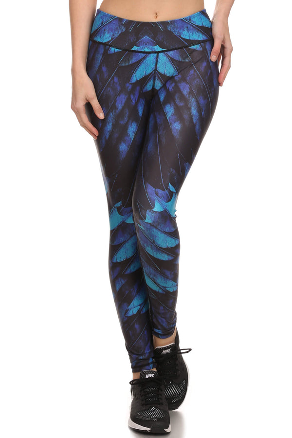 Blue Feather Dream Leggings - POPRAGEOUS  - 1