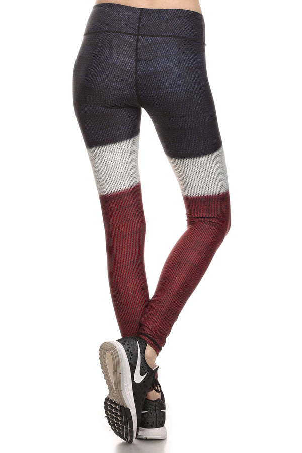 Color Block Dream Leggings - Burgundy - POPRAGEOUS  - 3